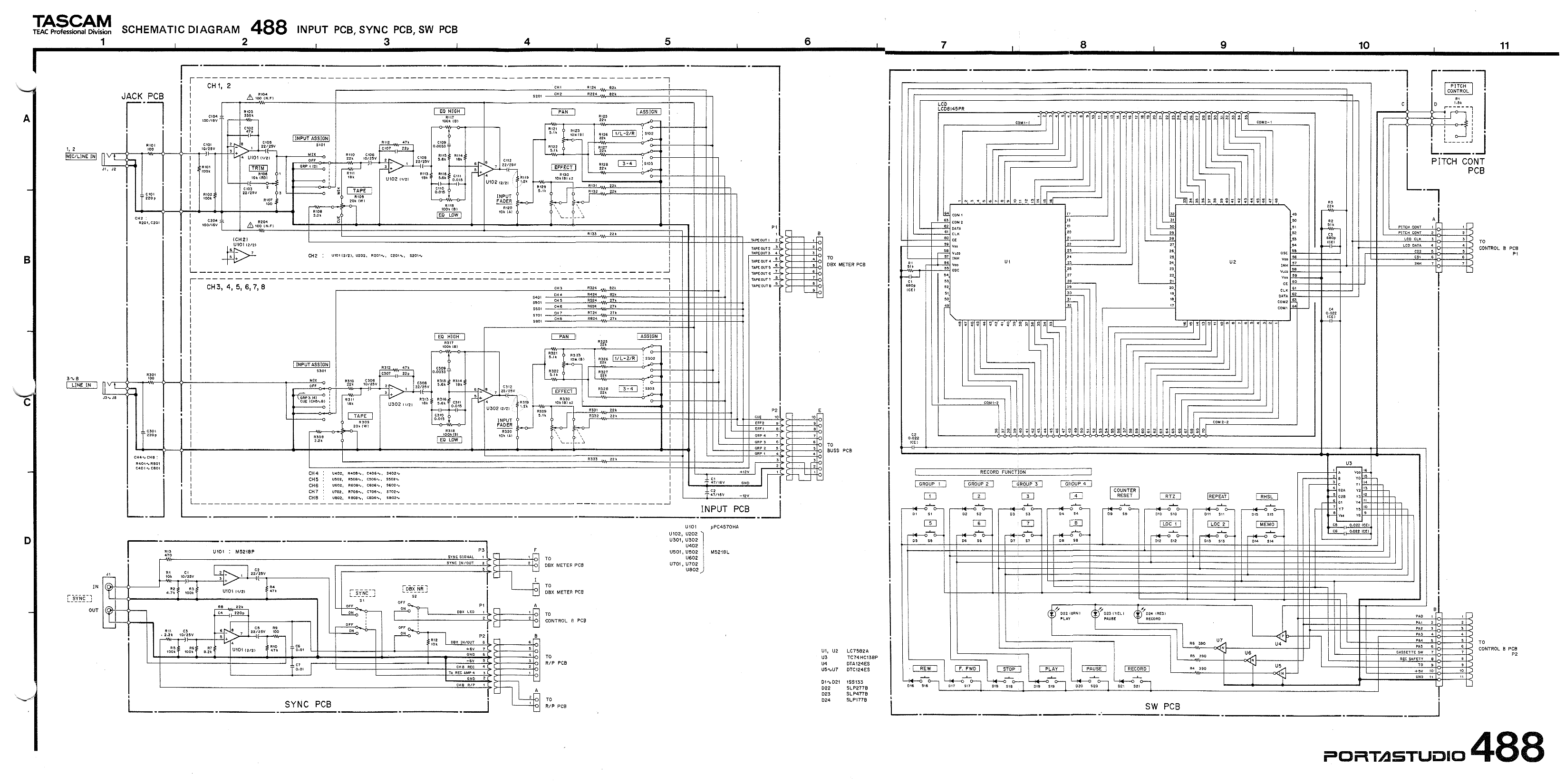 wrg 7679] tascam wire diagram Stero Wire Diagram index of information tascam 488 mk1 service manual (png) 02 oct 2008